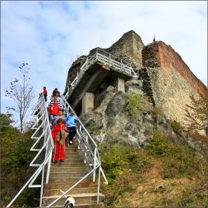 First View of Poenari Castle