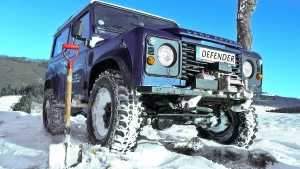 Defender in the snow