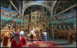 Ciolanu Monastery Inside