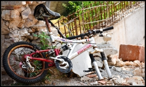 Broken bike in Pula, Croatia