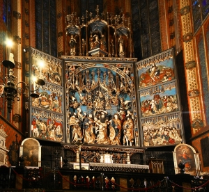 Detail, Huge Altar, St Mary's Basilica, Krakow, Poland
