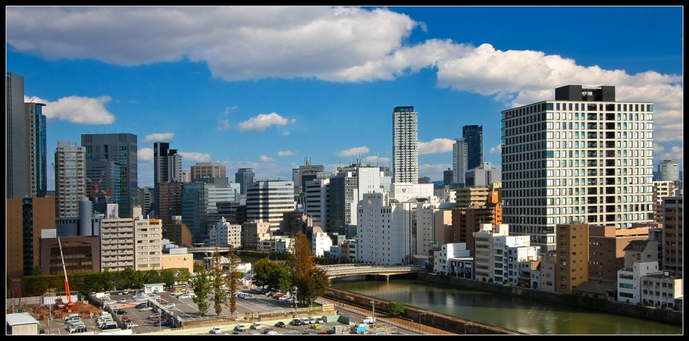 Osaka Skyline by Day