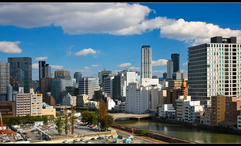 Osaka Skyline by Day