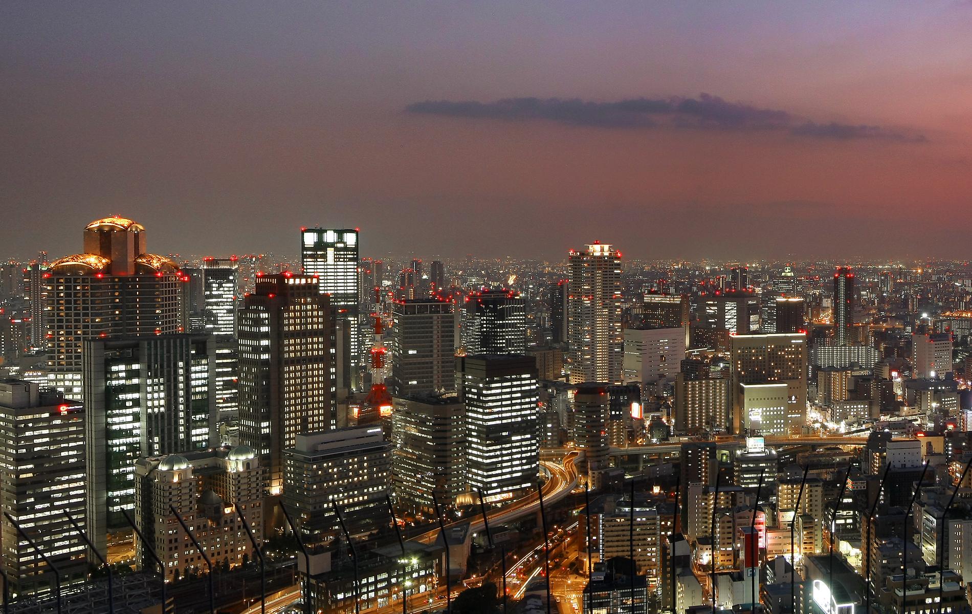Osaka Skyline By Night My Journey Into The World