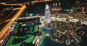 Dubai Downtown, at night