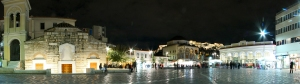 Monastiraki by night : double HD panorama