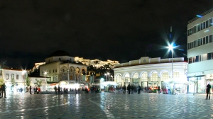 Monastiraki Square by night, HD