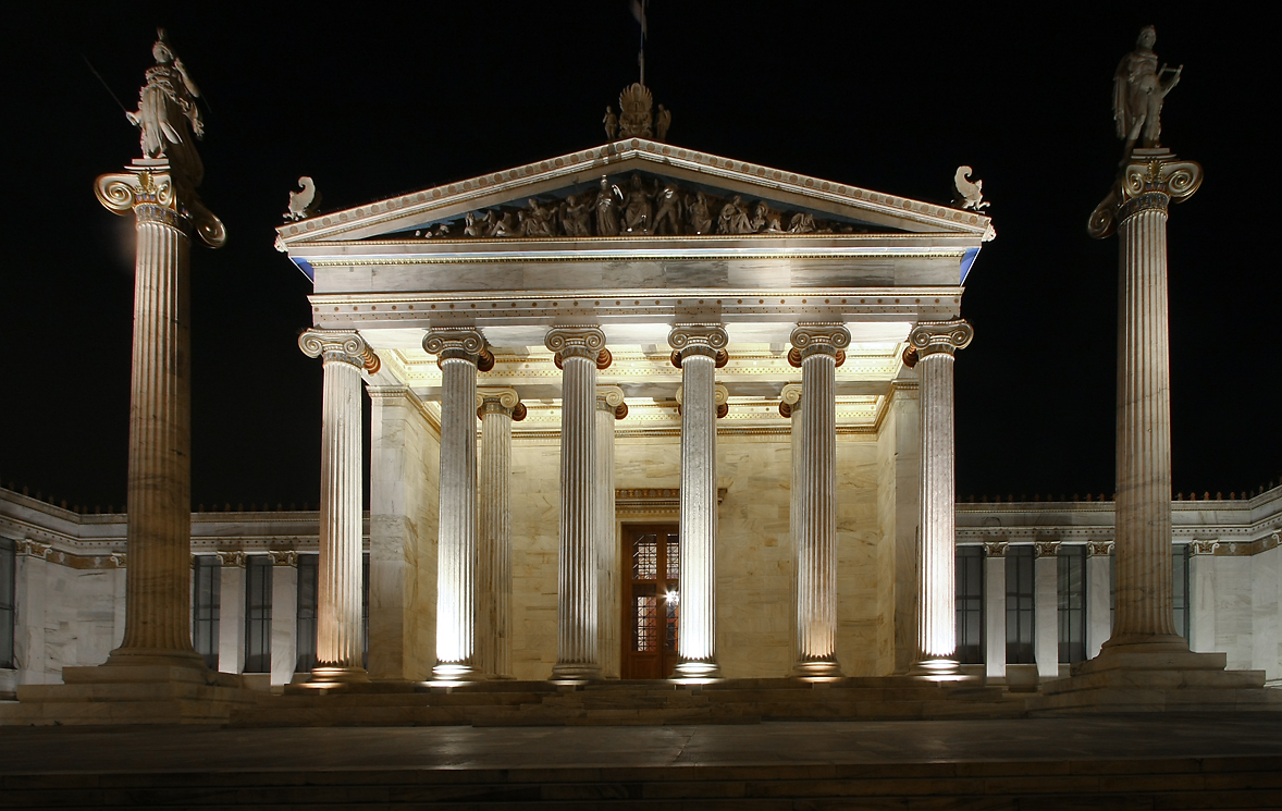 greek architecture athens night buildings classical greece ancient building modern square ro into hairpin lt