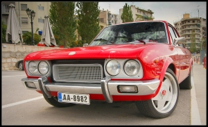 Red Fiat 124 Abarth