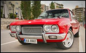 Red Fiat 124 Abarth