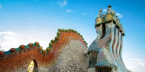 The infamous rooftop of Casa Batlo