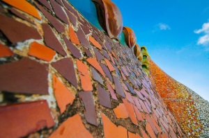 Rooftop decorations of Casa Batlo