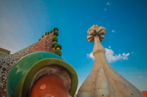 Cypress Tree Cross tower at Casa Batlo