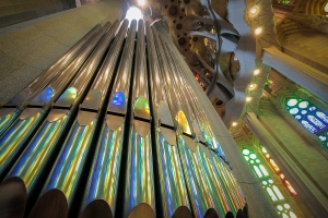 Organ and Colors Symphony at Sagrada Familia