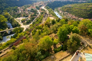 Veliko Tarnovo seen fron the top of Tsarevets Hill
