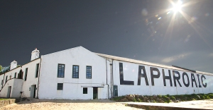 Laphroaig Distillery in the morning sun