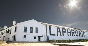 Laphroaig Distillery in the morning sun