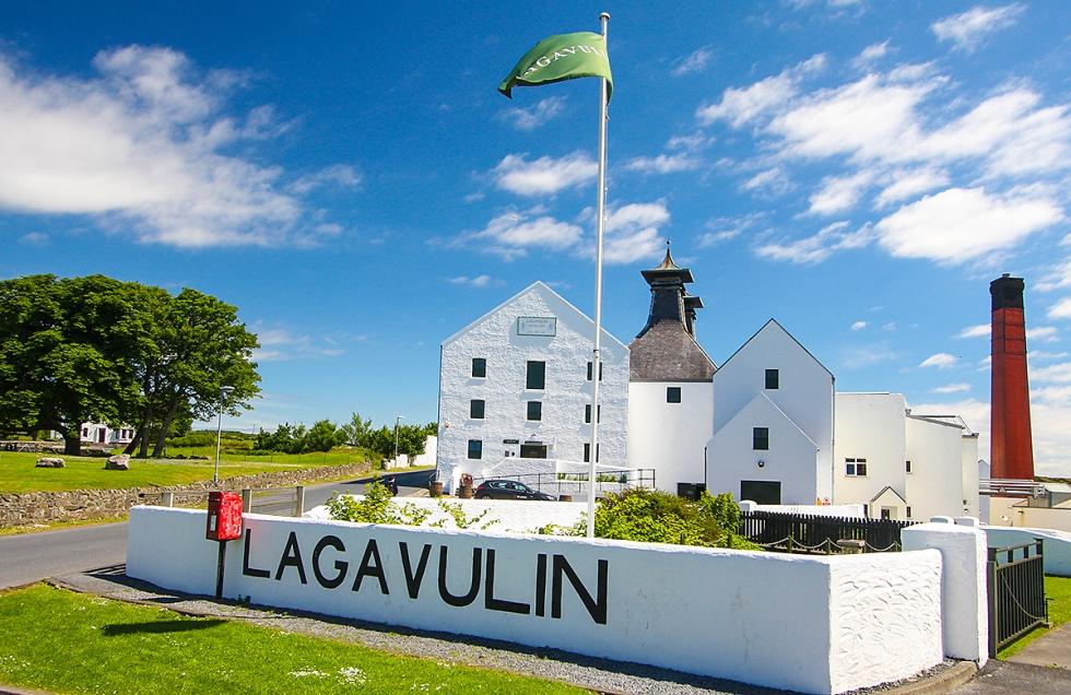Entrance to Lagavulin Distillery, Islay