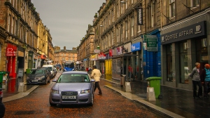 inverness streets in the rain audi coloured